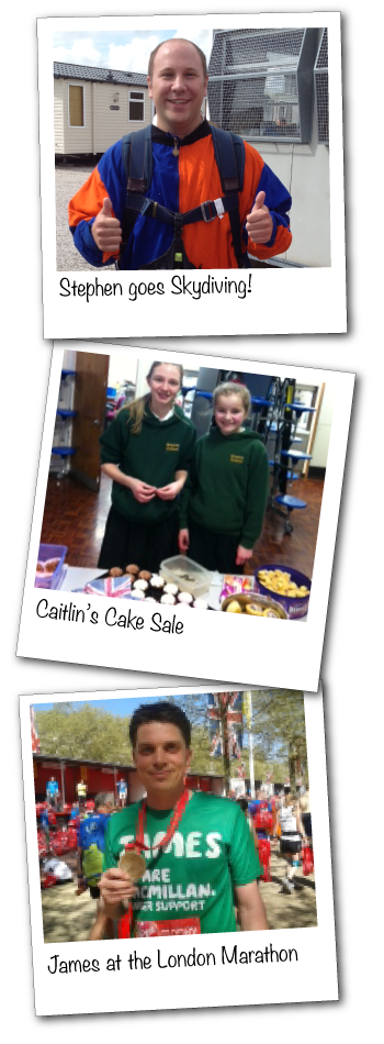 Fundraising - Sky Dives, Cake Sales and Marathons!